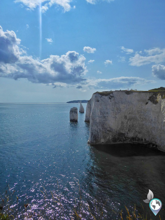 Old Harry Rocks in England, englische Küste