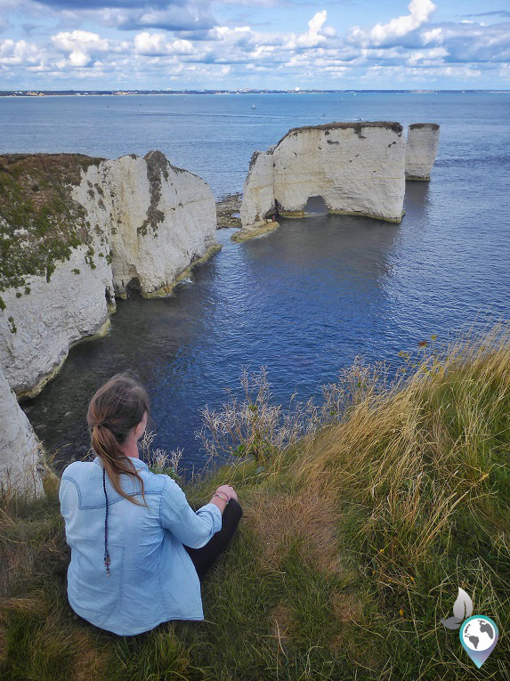 Old Harry Rocks in England