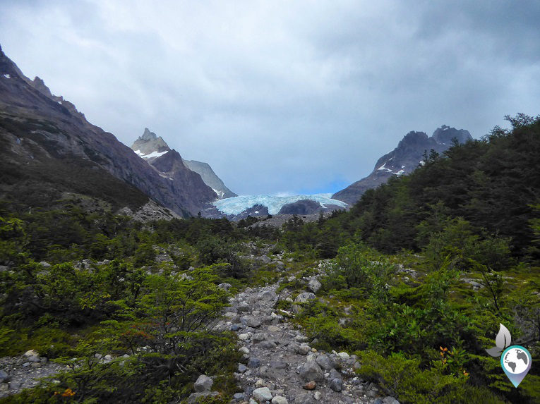 Ein Gletscher in der Ferne