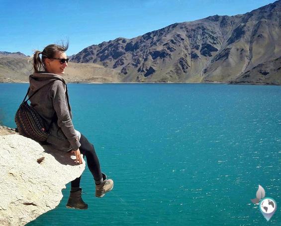 Cajon del maipo, Santiago de Chile, Südamerika, Embalse el yeso