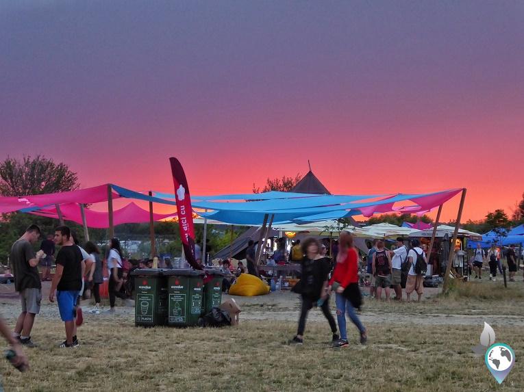 Airfield Festival in Rumänien, Sonnenuntergang. Sibiu/ Herrmannschadt in Rumänien