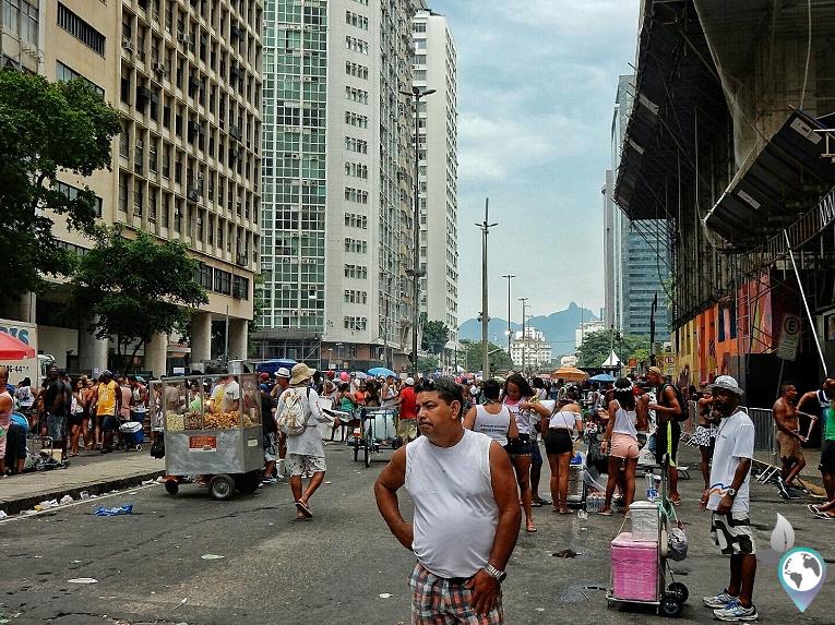 Straßen im Zentrum, Karneval in Rio de Janeiro, Brasilien