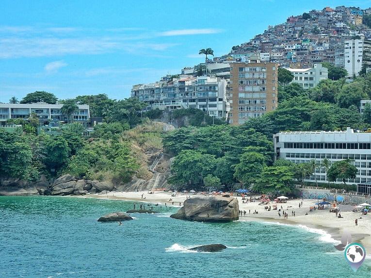 Perfekte Lage der Favela Vidigal