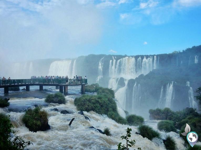 Hotspots in Südamerika, Iguazu Wasserfälle in Argentinien, Brasilien