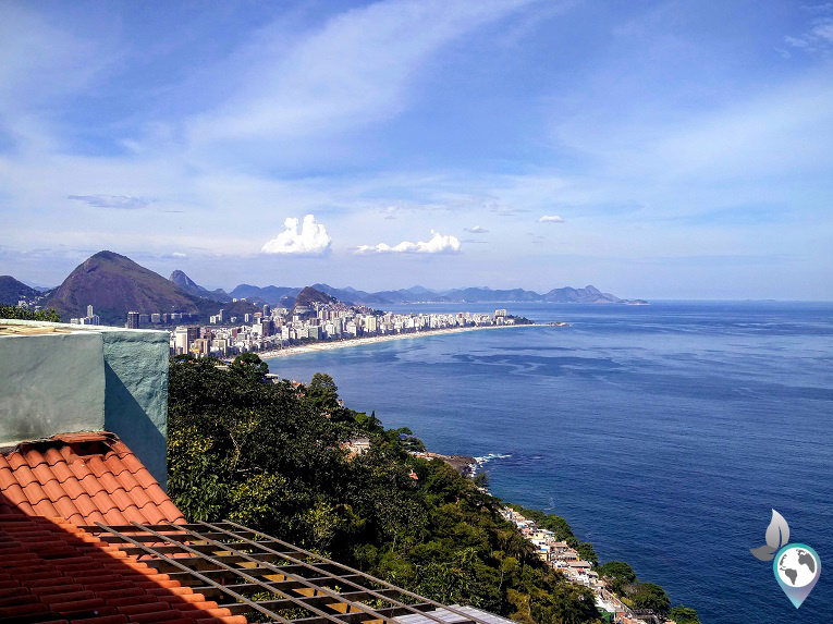 Ausblick vom Hostel auf den Ipanema- Strand
