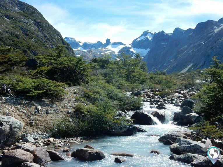 Kleiner Bach Laguna Esmeralda