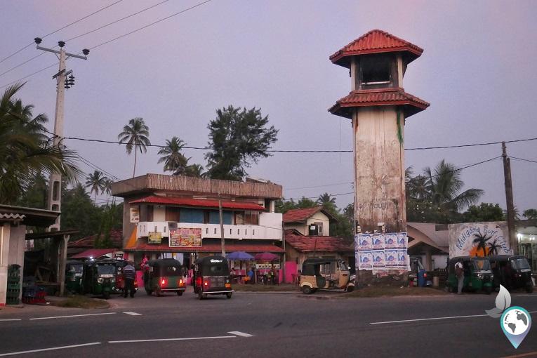 Der Clocktower von Midigama East das Zentrum
