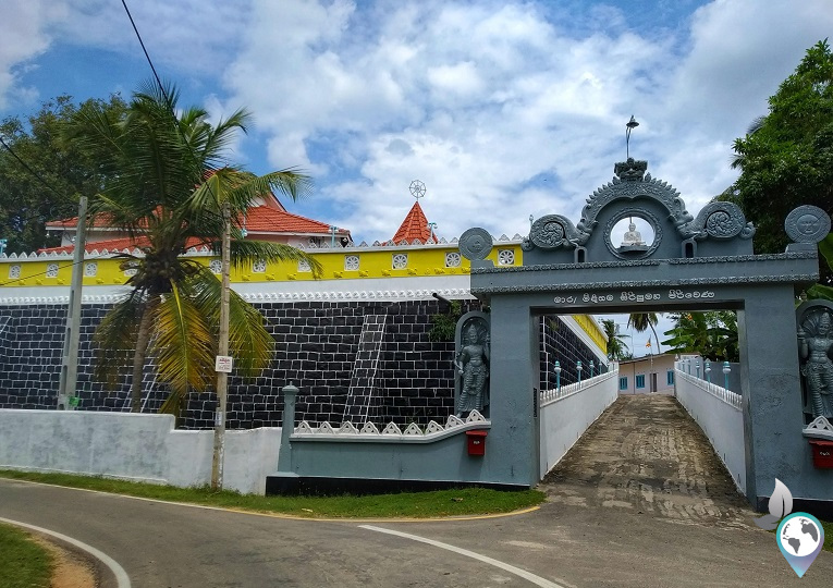 Ein buddhistischer Tempel von Midigama