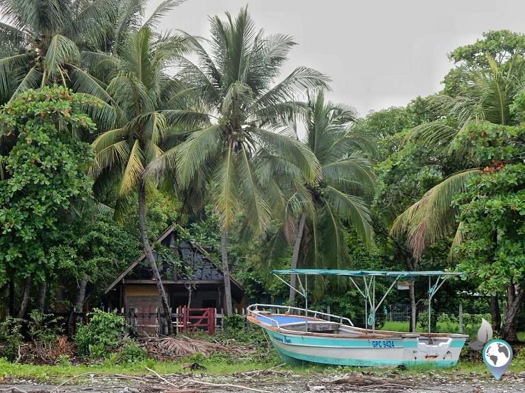 Pura Vida Hütte am Strand von Costa Rica