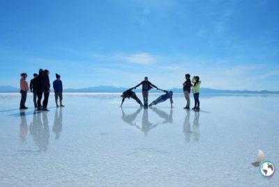 Salar de Uyuni, Bolivien, Salzwüste, Saltflats, Tour, Backpacking