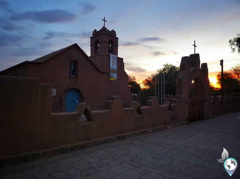 Die kleine Kirche in San Pedro kannst du dir umsonst ansehen, Plaza San Pedro de Atacama