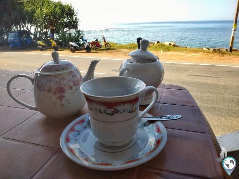 Schwarzen Sri Lanken Tee zum Frühstück