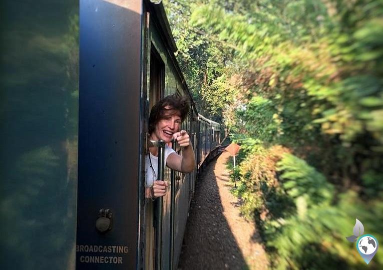 Im Zug in Sri Lanka
